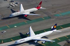 Lufthansa Airbus A340-642 D-AIHT (Mark Harris photography) Tags: california plane aircraft aviation lax spotting