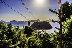 Zipline in El Nido (julesnene) Tags: travel beach island southeastasia paradise philippines line adventure ph zipline whitesand zip elnido palawan lascabaas julesnene mimaropa juliasumangil canon7dmarkii canon7dmark2