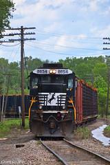 "Westbound Intermodal in Birmingham, MO (""Righteous"" Grant G.) Tags: city railroad west ford train truck frames power ns norfolk railway trains southern missouri kansas locomotive ge freight westbound intermodal"
