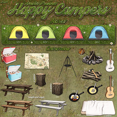 The Happy Campers Gacha - The Arcade - June (Crystal Cranberry) Tags: life camping mesh arcade sl second thearcade amala
