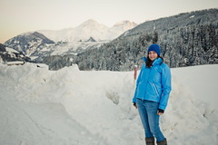 (surfingstarfish) Tags: blue schnee winter portrait woman snow mountains alps cold nature natural outdoor natur berge portraiture alpen blau frau kalt klte natrlich