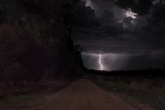 Lightning Road (BrandonDuarte) Tags: storm rain night dark country line lightning roads leading thunder
