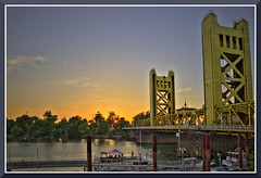 Sacramento_2161d (bjarne.winkler) Tags: ca bridge sunset game tower home river for waiting baseball fireworks american sacramento