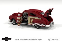 Chevrolet 1948 Fleetline Aerosedan Coupe (lego911) Tags: chevrolet chevy chev 1948 1940s classic fleetline aerosedan coupe auto car moc model miniland lego lego911 ldd render cad povray usa america woody chrome lugnuts challenge 103 thefabulousforties fabulous forties