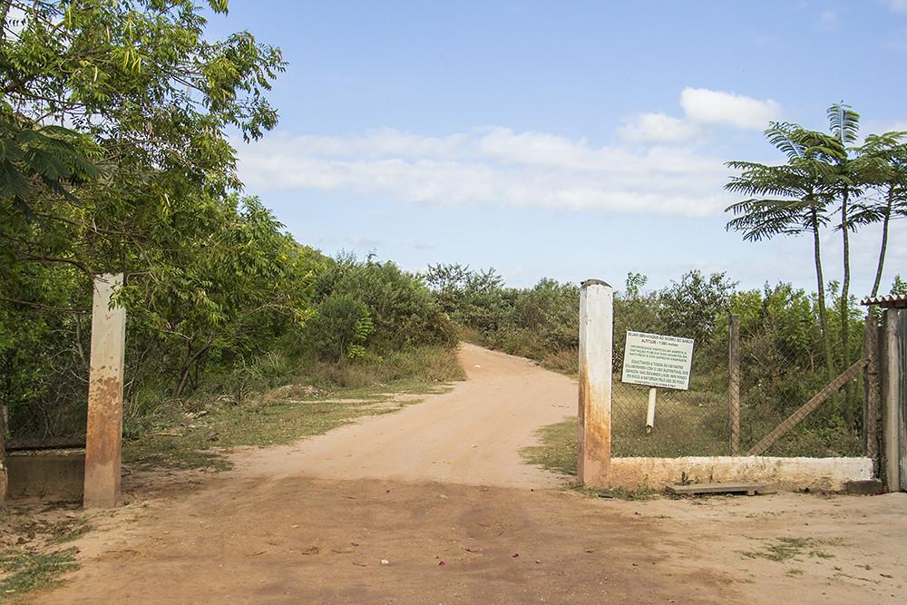Trilha Morro do Sabóo - Entrada pra trilha