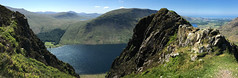 Wast Water from Yewbarrow (NDSD) Tags: blue england cliff lake nature water landscape district cumbria wast