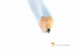 Tip of a Pencil (grobler.inus) Tags: blue blur closeup pencil writing photography whitebackground stationery tool shallowdepthoffield ishootraw fotoinusgrobler