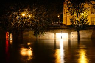 Crue de la Seine 2016 - Paris, Quai de Bourbon, Île Saint-Louis