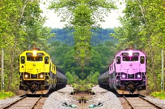 #photography #train #railroad #edit #art #effect #mirror #colorsplash #dream #artwork #freeart #photodesign #colorful #illustration #nature (mrbrooks2016) Tags: illustration freeart effect photography dream artwork colorsplash photodesign nature colorful art mirror train edit railroad