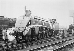 Beautifully Finished (4486Merlin) Tags: england bw europe northwest streak unitedkingdom transport steam cumbria railways carlisle mpd gbr 12a 4498 sirnigelgresley 60007 exlner lnerclassa4 carlislekingmoor