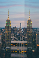 Empire State Building Reflection (sean.tracy) Tags: new york city nyc digital photography nikon lightroom vsco