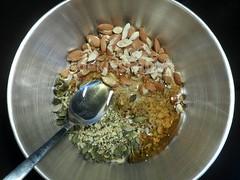 Amandel Granola (kaskoekie) Tags: december 2014 recepten koekiesenzo