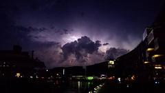Wetterleuchten - summer lightning (kalakeli) Tags: june juni nightshots thunderstorm lightning hafen mnster 2016 blitze nachtaufnahmen wetterleuchten wetterphnomen