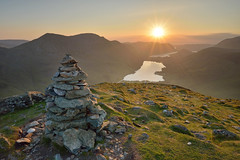 30 minutes to sunset (Andrew Mowbray) Tags: lakedistrict haystacks cumbria crummockwater buttermere lakedistrictnationalpark fleetwithpike redpike highstile highcrag ldnp wainwrightbook7