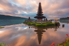 Sunrise at Ulundanu Temple, Bratan Lake - Bali Photography Tour (Pandu Adnyana Photography Tour) Tags: travel bali lake sunrise indonesia temple tour guide hindu bratan beratan bedugul balitravelphotography baliphotographytour baliphotographyguide balilandscapephotography