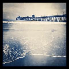 IB Lovin' this Pier: #4 {iPhone Edition}! (pixelmama) Tags: california sea pier surf waves pacificocean johns fishingpier imperialbeach goinwest yetanotherpiershot hipstamatic pixelmama instagram iphone4s rockbw11 untilthenthecameraphoneisalligot thatwaswheniactuallycouldshootwiththenikon onedayimighthave