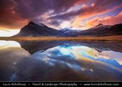 Iceland - Jkulsrln Surrounding at Sunset - Mirror, Mirror no.2 ( Lucie Debelkova / www.luciedebelkova.com) Tags: travel light sunset sky panorama cloud storm cold tourism nature water beautiful clouds sunrise wonderful dark landscape outdoors island dawn licht frozen iceland fantastic scenery europe mood view dusk lumire scenic atmosphere paisaje lagoon paisagem glacier arctic beaut stunning vista nordic paysage exploration incredible landschaft breathtaking paesaggio sland jokulsarlon jkulsrln spectacle vatnajkull evropa magiclight dramaticlight nordiccountry jokulsarlonglacierlagoon lveldisland capturenature luciedebelkova lpsky breiarmerkurjkull wwwluciedebelkovacom