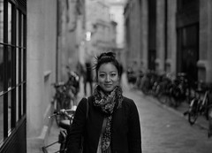 [ Virginie ] (Jrmie Le Guen) Tags: street light portrait blackandwhite bw woman white black france film analog french 50mm photo noir minolta noiretblanc femme nb fixed et blanc ilford portrature x700 focal 125asa aquitaine lenght leguen leziwok jrmieleguen