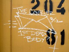 THE COURIER (TRUE 2 DEATH) Tags: railroad art train graffiti streak tag graf railcar boxcar railways hobo railfan freight freighttrain rollingstock monikers moniker  meanstreaks hobotag hobomoniker hoboart benching paintsticks railroadart boxcarart oilbars freighttraingraffiti thecourier markals ricohgriv 1stdeadbody