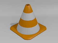 VLC icon made with Blender