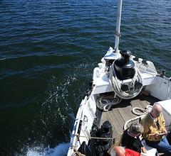 We ride the waves (fotoeins) Tags: travel summer people water canon eos boat europa europe sweden stockholm kitlens balticsea baltic sverige daytrip archipelago xsi vaxholm waxholmsbolaget eos450d henrylee 450d canonefs1855mmf3556is fotoeins henrylflee fotoeinscom