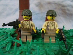 Paratroopers (424) Tags: world 2 milan war lego wwii helmet ii american ww2 custom netting axis madge allies minifigure paratrooper brickarms mmcb viking424
