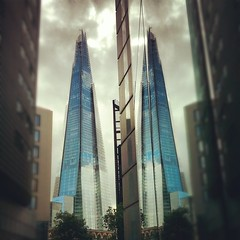 reflection architecture double soe theshard... (Photo: Jonathan Ang on Flickr)