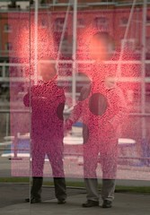 La magie de l'art (carlos_ar2000) Tags: street red color colour reflection art argentina shop rouge calle rojo buenosaires arte surreal reflected reflejo puertomadero negocio