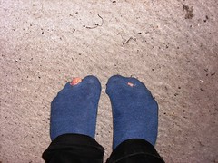 new sock (lasseman92) Tags: new socks nice sock toe hole holes holy worn torn trasig hollow holey nya nästan hål tå strumpa