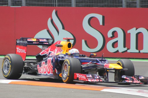 Sebastian Vettel in his Red Bull Racing F1 car at the 2012 European Grand Prix in Valencia