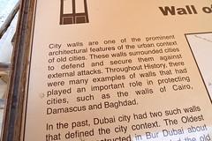 Dubai 2012 – Bastakiya – City walls are one of the prominent architectural features of the urban context of old cities (Michiel2005) Tags: wall dubai uae unitedarabemirates citywall muur bastakiya vae stadsmuur elsschot lijmen urbancontext verenigdearabischeemiraten