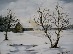 Winter Dawn - oil