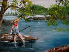 Summer Fishing -oil