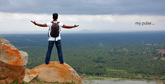 My Pulse.. (y'O'gs) Tags: travel sky sun india sexy love tourism nature birds night spring day mood alone wind indian bangalore palm hills traveller rivers passion lover lovely pulse plans breeze karnataka universe traveler sexier shravanabelgola twittering