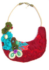 (Sonho de Moça) Tags: artesanato colar artesanatobrasileiro elo7 colarartesanal maxicolar modatendência colarcraft sonhomoça
