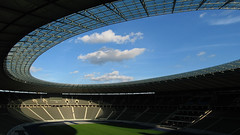 Berlin Olympic Stadium Panorama (chrisgj6) Tags: panorama berlin architecture germany deutschland football fussball stadium panoramas panoramic stadion olympicstadium stitched olympiastadion hertha hugin herthabsc