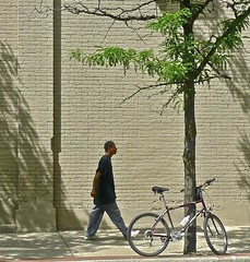 Young Man, Bike, Tree, Wall ... Ann Arbor Michigan, 2009 (sswj) Tags: painterly composition raw pov availablelight beautifullight naturallight photographicart fineartphotography fullscreen scottjohnson artisticphotography composing artphotography creativephotography iphotoedited poeticphotography californiaphotographer sanfranciscobayareaphotographer viewfullscreen leicadl4 marincountyphotographer thoughtfulcomposition photographiccreativity artfulcpmpsition makingfinephotos
