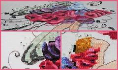 Sweet Pea Collage (sticksuse) Tags: crossstitch elfe fairy sweetpea mirabilia sticken kreuzstich noracorbett