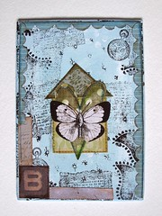 B is for Butterfly (Phizzychick!) Tags: house home butterfly heart canvas