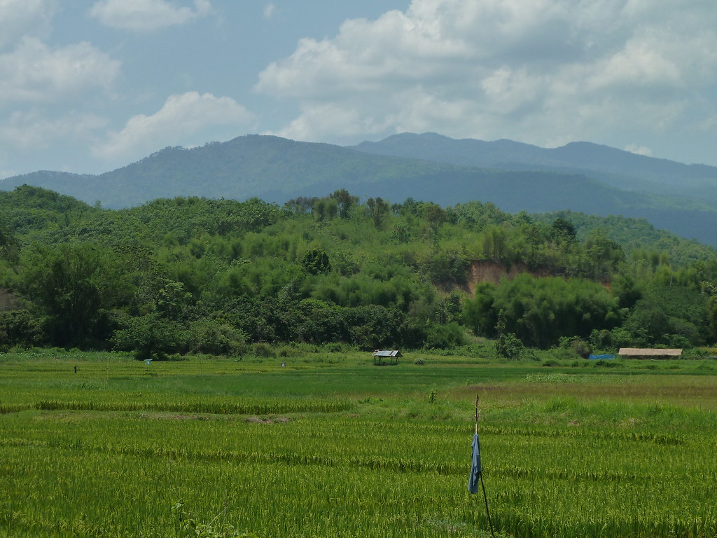Distant view to Doi Pha Hom Pok, Fang, Northern Thailand