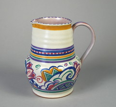 Poole Pottery Jug 559/BY 1920s/30s 5.75'' (Psychoceramicus) Tags: uk 1920s art studio ceramic 1930s ceramics hand dish traditional plate bowl pots dorset jug vase pottery deco charger poole decorated thrown