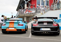 Epic Combo @The Ring (Wannes P. Photography) Tags: 3 black car gulf stripes 911 ring porsche 40 gt rs epic supercar gt2 combo gt3 997 the livery nrburgring striping 9ff