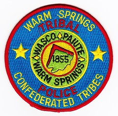 OR - Confederated Tribes of Warm Springs Police (Inventorchris) Tags: public oregon office warm peace cops or police safety springs cop tribes service law enforcement patch emergency patches department officer officers saftey confederated confederatedtribesofwarmspringspolice