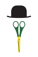 Bowler Hat + Scissors = Duck In A Bowler Hat (stephen-cheetham) Tags: illustration duck scissors bowlerhat vector illustrationaday stephencheetham