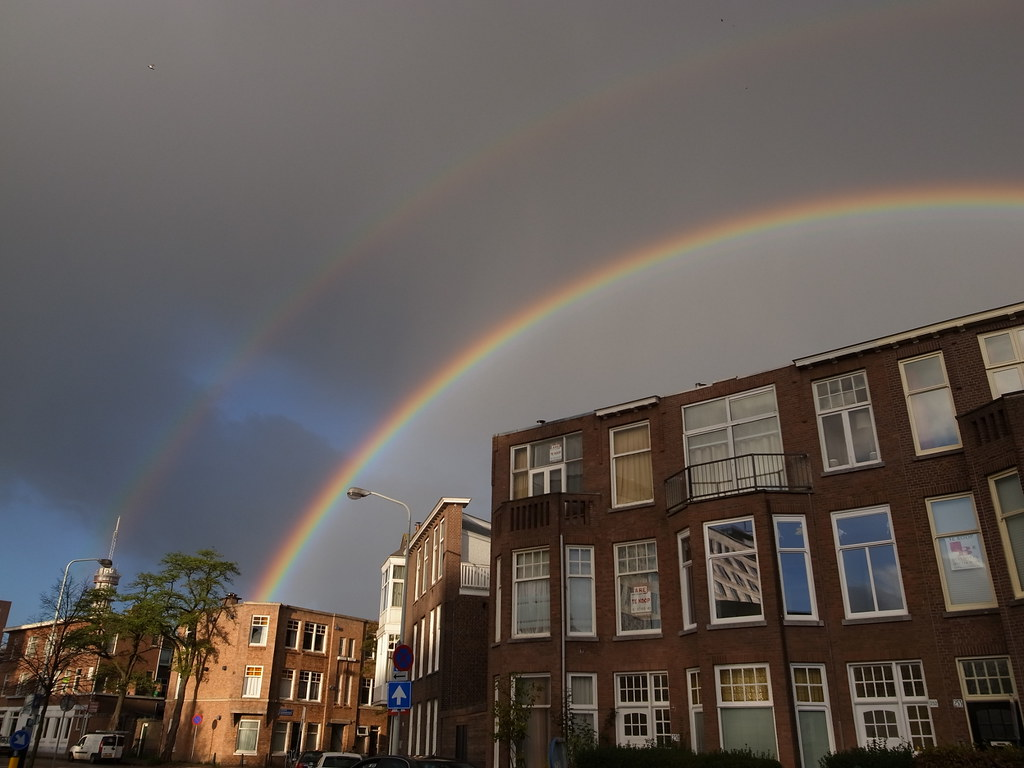 saw a nice double rainbow this morning!