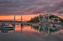 Torquay Dusk (Captain Nikon) Tags: bridge sunset boats harbour dusk devon ferriswheel torquay torbay longexposures nikond90 bigstopper bwneutraldensityfilter flickrandroidapp:filter=none