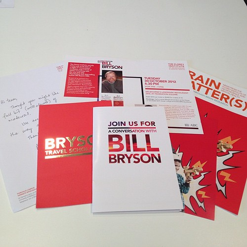 #HotoffthePress Bill Bryson, The Florey Institute