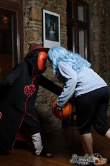 Tobi and basket cosplay at Akai Panda's Carnival Cosplay Party (SpirosK photography) Tags: party portrait anime bar cafe pub photoshoot cosplay manga tobi naruto costumeplay ostria  eksarheia narutoshippuden   cosplayparty cosplayevent eksarhia