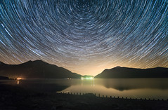 Recently at the Lake (@hipydeus) Tags: night stars bavaria trails walchensee h3a841ce3