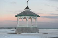 Oak Bluffs Gazebo in Winter - Martha's Vineyard (Massachusetts Office of Travel & Tourism) Tags: winter snow beach island dusk capecod massachusetts gazebo coastal marthasvineyard oakbluffs